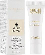 Духи, Парфюмерия, косметика Ночной крем для лица - Guerlain Abeille Royale Night Cream Firms, Smoothes, Redefines (пробник)