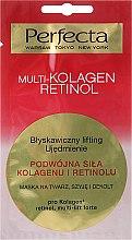 Духи, Парфюмерия, косметика Маска для лица, шеи и декольте - Perfecta Multi-Kolagen Retinol