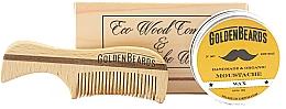 Духи, Парфюмерия, косметика Набор - Golden Beards Moustache Wax Kit + Comb (wax/15 ml + comb)