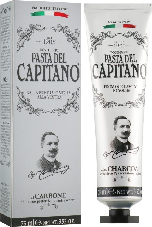 Зубная паста с древесным углем - Pasta Del Capitano Charcoal