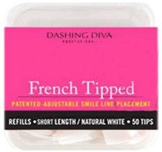 Парфумерія, косметика Тіпси короткі натуральні - Dashing Diva French Tipped Short Natural 50 Tips (Size - 4)