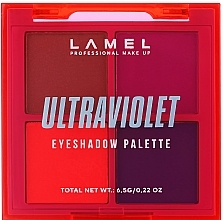 Духи, Парфюмерия, косметика Набор теней для век - Lamel Professional Neon Ultraviolet Eyeshadow Palette