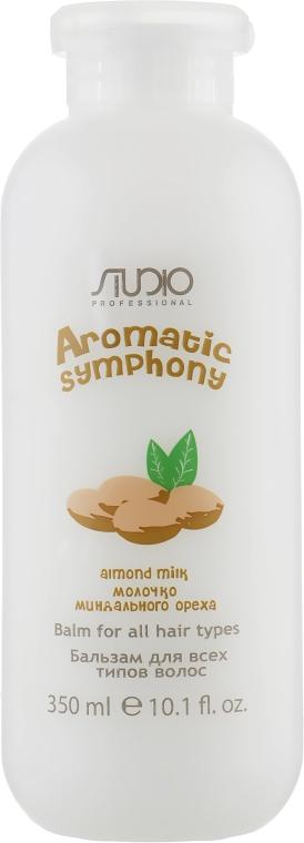 Бальзам для всех типов волос с молочком миндального ореха - Kapous Professional Studio Almond Milk Balm