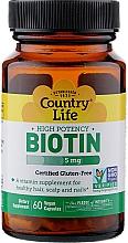 Духи, Парфюмерия, косметика Биотин, 5000 мкг - Country Life Biotin
