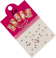 Духи, Парфюмерия, косметика Стразы для дизайна ногтей - ZO SS 6 AB Rose