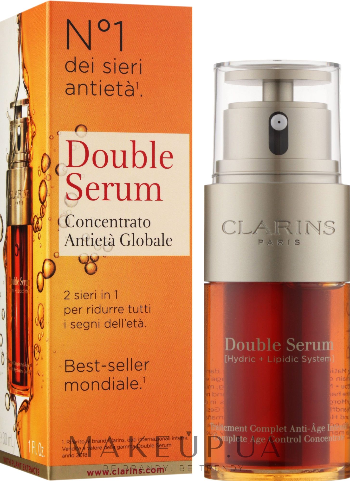 Двойная сыворотка - Clarins Double Serum Complete Age Control Concentrate — фото 30ml
