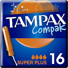 Парфумерія, косметика Тампони з аплікатором, 16 шт - Tampax Compak Super Plus