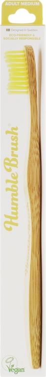 Зубная щетка, средней жесткости, желтая - The Humble Co.
