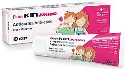 Духи, Парфюмерия, косметика Зубной гель для детей - Kin Fluorkin Junior Strawberry Anticaries Gel