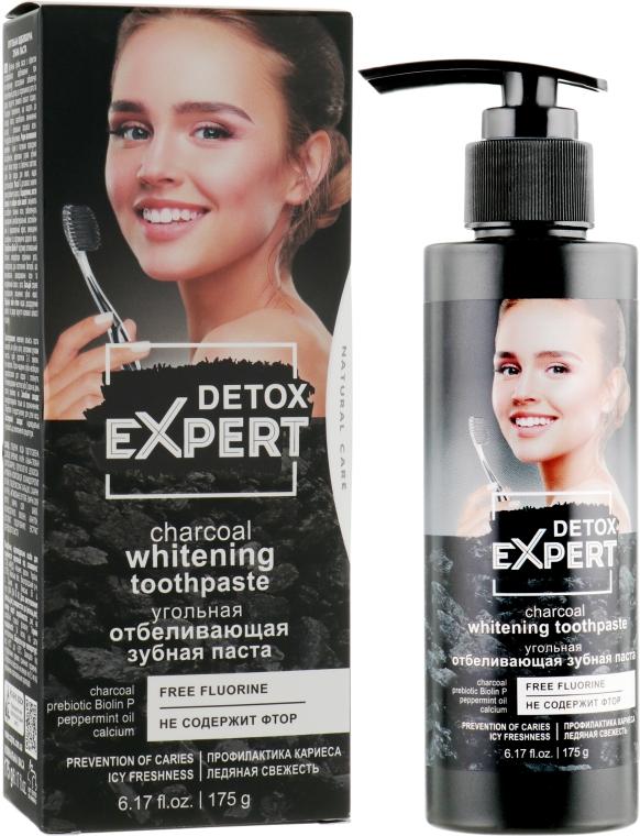 Угольная отбеливающая зубная паста - Detox Expert Charcoal Whitening Toothpaste