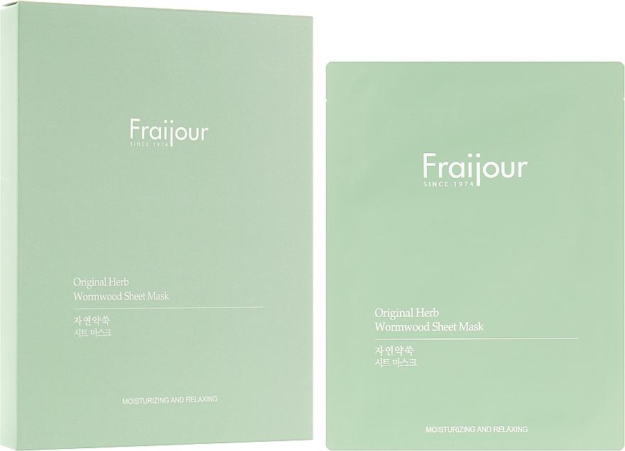 """Тканевая маска """"Растительные экстракты"""" - Fraijour Original Herb Wormwood Sheet Mask"""