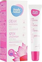 Духи, Парфюмерия, косметика Крем для депиляции лица - Body Natur Hair Removal Cream Face & Delicate Areas