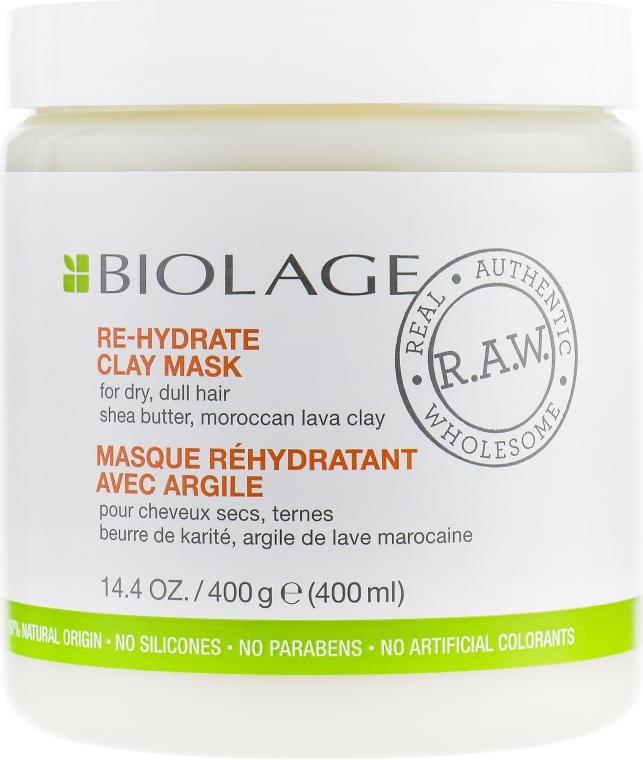 Маска для волос - Biolage RAW Re-Hydrate Clay Mask