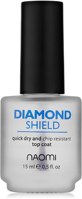 """Быстросохнущий закрепитель """"Алмазный щит"""" - Naomi Diamond Shield — фото N1"""
