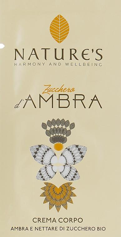 Nature's Zucchero d'Ambra - Крем для тела (пробник)