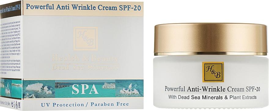 Сильнодействующий крем от морщин - Health And Beauty Powerful Anti Wrinkle Cream SPF-20 — фото N1