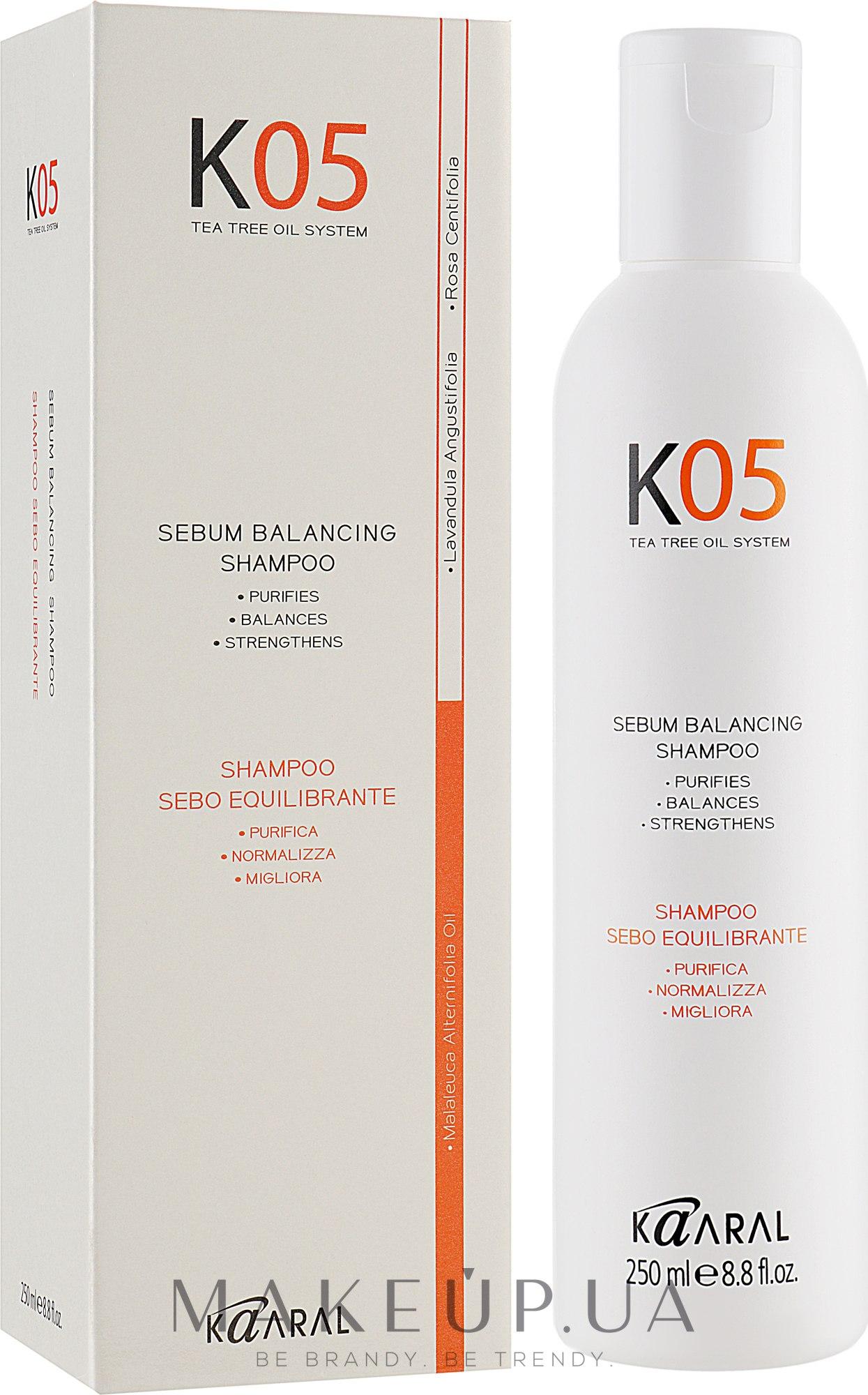 Шампунь для восстановления баланса секреции сальных желез - Kaaral К05 Sebum Balancing Shampoo — фото 250ml