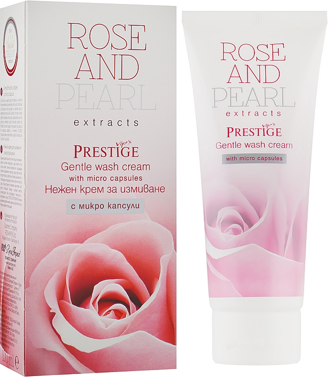 Нежный крем для умывания с микрогранулами - Vip's Prestige Rose & Pearl Gentle Wash Cream