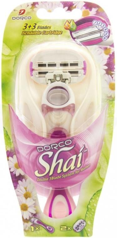 Станок для бритья с 2 сменными кассетами - Dorco Shai 3+3