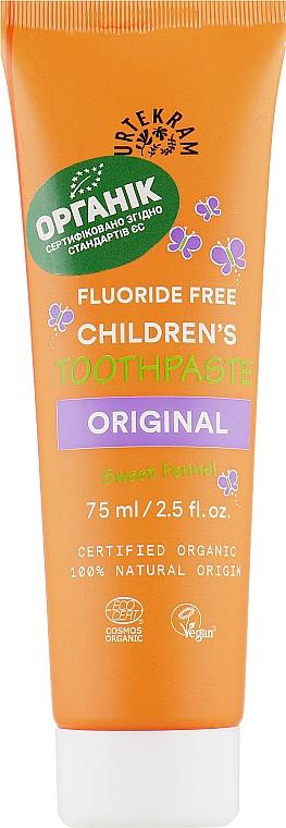 Органическая детская зубная паста - Urtekram Childrens Toothpaste Original