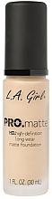 Духи, Парфюмерия, косметика Матирующая тональная основа - L.A. Girl Pro.Matte Foundation