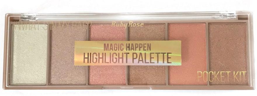 Палетка хайлайтеров - Ruby Rose Magic Happen Highlight Palette