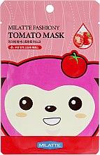 Духи, Парфюмерия, косметика Тканевая маска для лица с экстрактом томата - Milatte Fashiony Mask Sheet Tomato