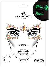 Духи, Парфюмерия, косметика Клеящиеся кристаллы для лица, светятся в темноте - Miami Tattoos Euphoria