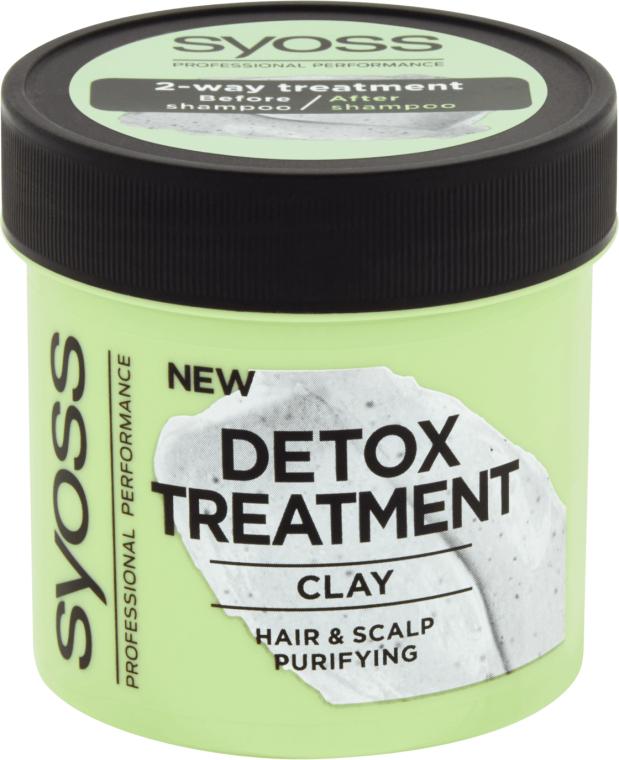 Детоксицирующая маска для волос с глиной - Syoss Detox Treatment Clay