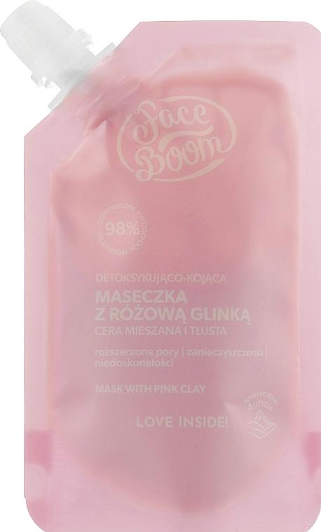 Успокаивающая маска-детокс для лица с розовой глиной - BodyBoom Face Boom Mask With Pink Clay