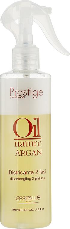 Двухфазный спрей для волос с аргановым маслом - Erreelle Italia Prestige Oil Nature Districante 2 Fasi