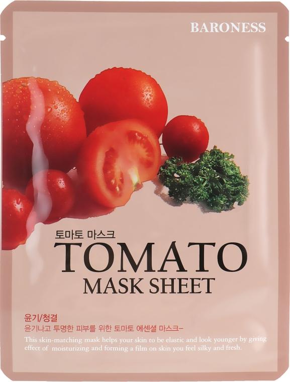 Тканевая маска с экстрактом томатов - Beauadd Baroness Mask Sheet Tomato