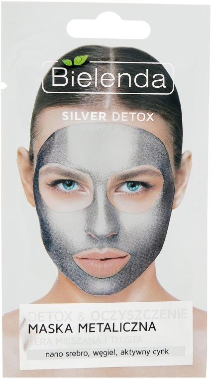 Маска с содержанием металлов для смешанной и жирной кожи - Bielenda Silver Detox