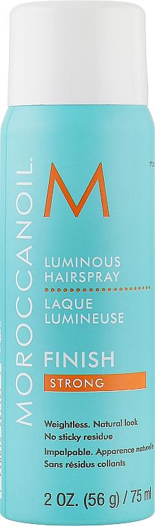 Сияющий лак для волос сильной фиксации - Moroccanoil Luminous Hairspray Strong Finish