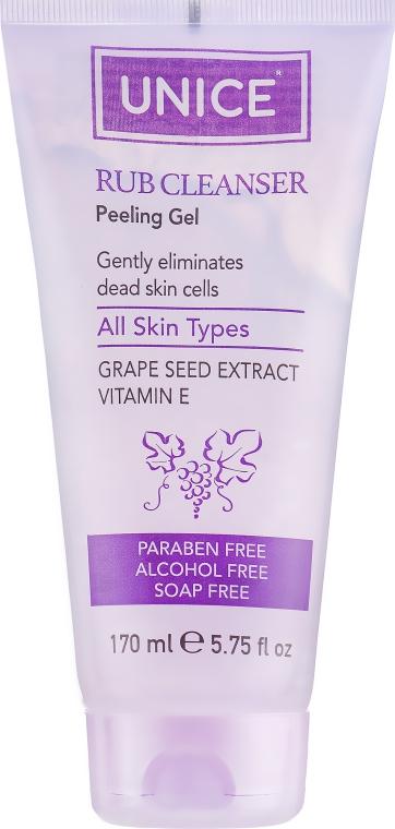 Гель-пилинг с экстрактом виноградных косточек - Unice Rub Cleanser Peeling Gel