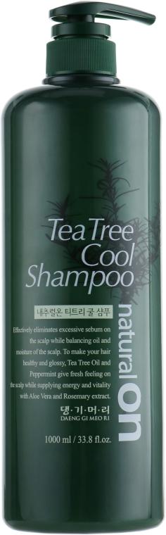 Охлаждающий шампунь на основе чайного дерева - Daeng Gi Meo Ri naturalon Tea Tree Cool Shampoo