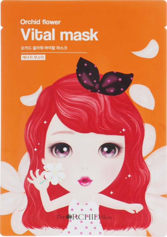 Тканевая маска для лица восстанавливающая - The Orchid Skin Orchid Flower Vital Mask