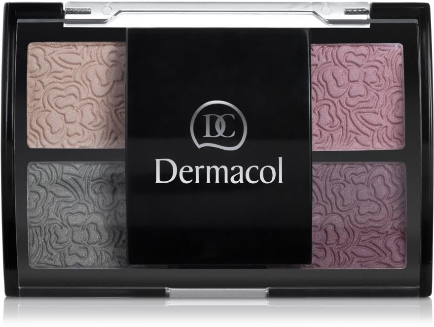 Тіні для повік чотирьохкольорові - Dermacol Quatro Eye Shadow — фото N2