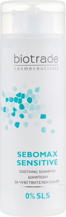 Безсульфатный мягкий шампунь для чувствительной или раздраженной кожи головы - Biotrade Sebomax Sensitive Shampoo — фото N2