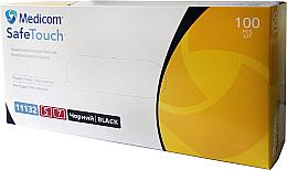 Духи, Парфюмерия, косметика Перчатки виниловые, без пудры, черные, размер S - Medicom Safe Touch Vinyl Examination Gloves