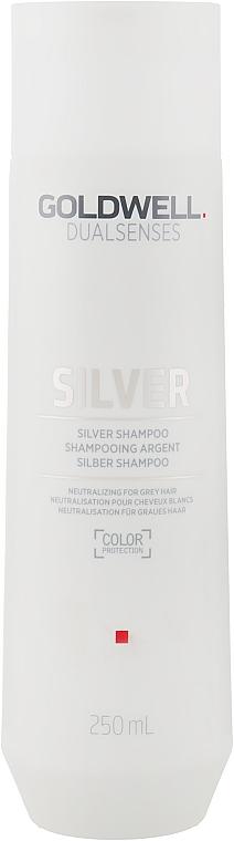 Корректирующий шампунь для седых и светлых волос - Goldwell Dualsenses Silver