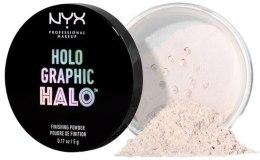 Духи, Парфюмерия, косметика Пудра для лица - NYX Professional Makeup Holo Graphic Halo Finishing Powder