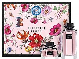 Духи, Парфюмерия, косметика Gucci Flora by Gucci Gorgeous Gardenia - Набор (edt/100 ml + edt/30 ml)