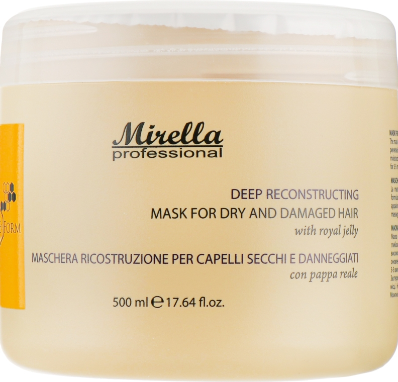 Восстанавливающая маска с маточным молочком - Mirella Professional Bee Form Reconstructing Mask