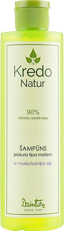 Шампунь для волос с маслом шалфея мускатного - Dzintars Kredo Natur Aroma Shampoo