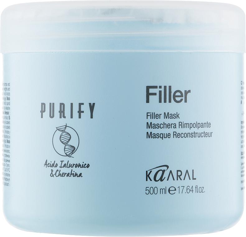 Маска-филлер для волос с кератином и гиалуроновой кислотой - Kaaral Purify Filler Filler Mask