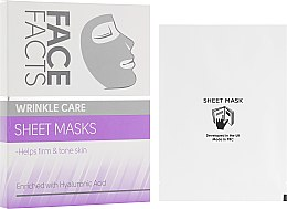 Духи, Парфюмерия, косметика Тканевая маска для лица - Face Facts Wrinkle Care Sheet Face Mask