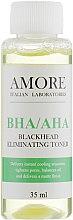 Парфумерія, косметика Концентрований тонік з кислотами проти чорних цяток і акне - Amore Bha/Aha Blackhead Eliminating Toner
