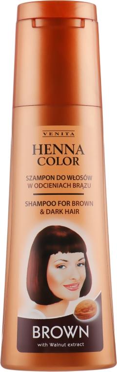 Шампунь для коричневых волос - Venita Henna Color Brown Shampoo