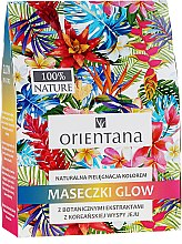 Духи, Парфюмерия, косметика Набор натуральных масок для лица - Orientana Glow Natural Face Mask (f/mask/3x30ml)
